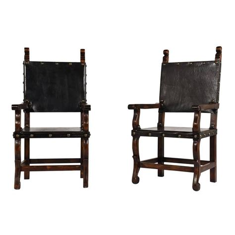 set of 14 colonial style dining chairs for sale at