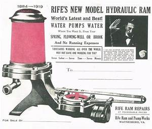 Rife U0026 39 S New Model Hydraulic Ram Water Pump Waynesboro