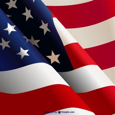 Waving American Flag Vector  Free Download