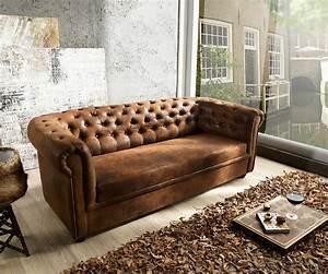 Chesterfield Sofa 4 Sitzer : couch chesterfield braun 200x90 cm antik optik abgesteppt 3 sitzer ~ Bigdaddyawards.com Haus und Dekorationen