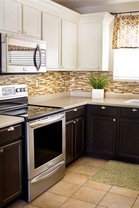 kitchen cabinets white on top on bottom diy kitchen updates on a dime lower cabinets white 9862