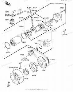 Kawasaki Atv 1987 Oem Parts Diagram For Starter Motor