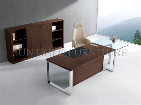 metal and glass office desk modern office desk with glass top office table with steel