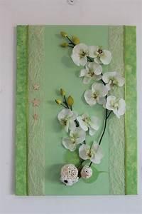 tableau fleurs artificielles printanier avec orchidee With affiche chambre bébé avec jolies fleurs artificielles