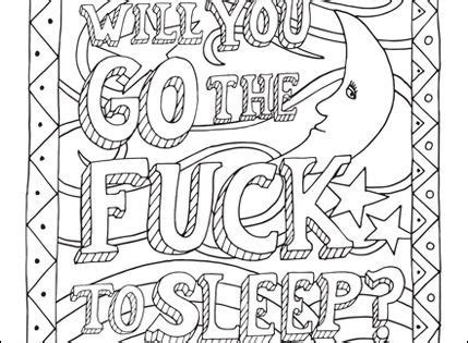 curse word coloring page  adults  pinterest coloring pages  adults