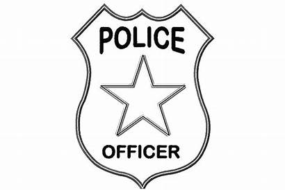 Police Coloring Badge Officer Pages Badges Clipart