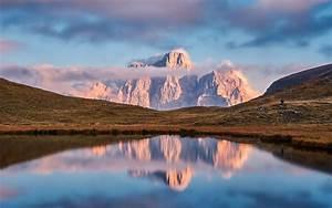 Overlooking, View, Of, Mountain, Under, Clouds, Mac, Wallpaper, Download