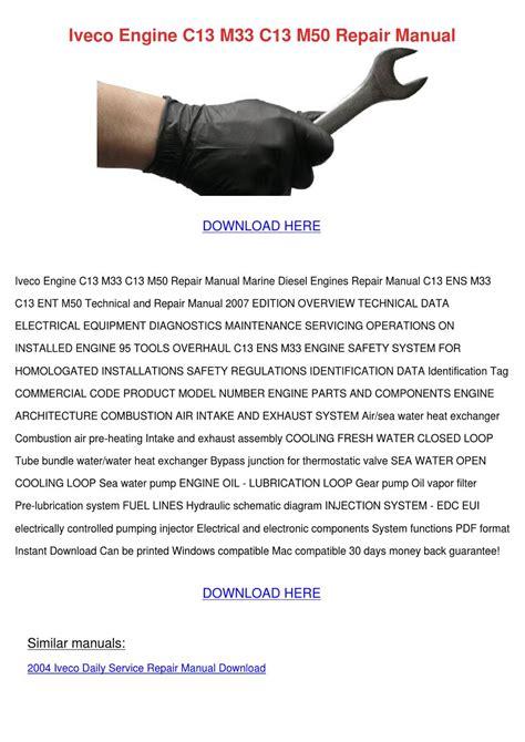 iveco engine     repair manual