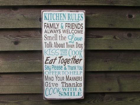 Family rules signs, primitive home decor, Kitchen signs