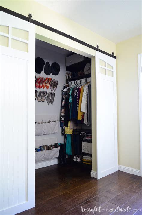 closet sliding barn doors build plans a houseful of handmade