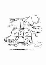 Colorare Disegno Trip Kleurplaat Vakantie Colorear Coloring Viaggio Vacanza Dibujo Urlaub Dem Vacaciones Disegni Mat Malvorlage Coche Gratis Coloriage Voyage sketch template