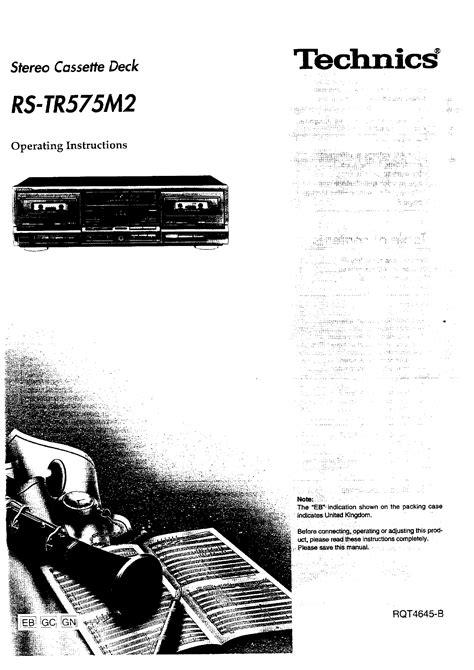 Technics Rstr575  Owner's Manual Immediate Download