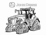 Coloring John Pages Deere Mower Lawn Riding Tractor sketch template