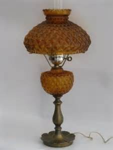 Floor Lamp Clear Glass Shade by Vintage Glass Lamps