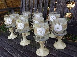 rustic wedding centerpieces set of 5 shabby chic With dollar tree wedding decoration ideas