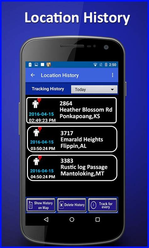 cell phone location tracker  android
