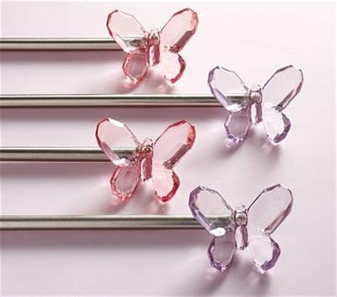 possible curtain rod finials big room butterflies