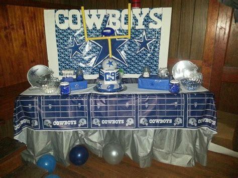 dallas cowboys party candycake table lets plan  party