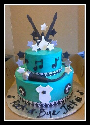 rock  bye baby shower cake    stars