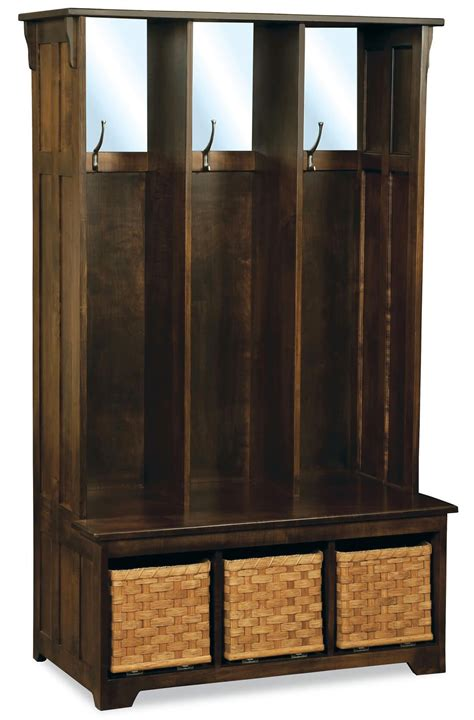 marianna entry seat  storage countryside amish furniture