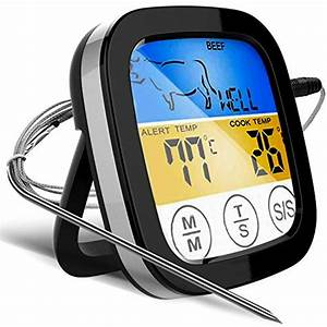 Digital Touchscreen Food Thermometer For Meat And Poultry
