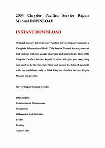 2004 Chrysler Pacifica Service Repair Manual Download By