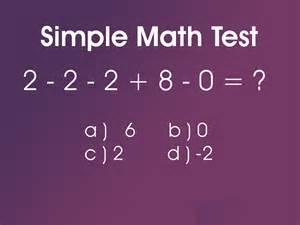 Simple Math Test