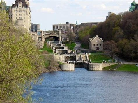 rideau canal locks bytown museum chateau laurier hotel