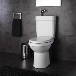 Lave Main Retro : pack wc avec sortie verticale 2 en 1 pas cher sur planete bain ~ Edinachiropracticcenter.com Idées de Décoration