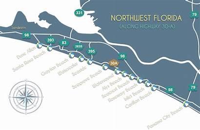 Map 30a Florida Scenic Fl Beaches Beach