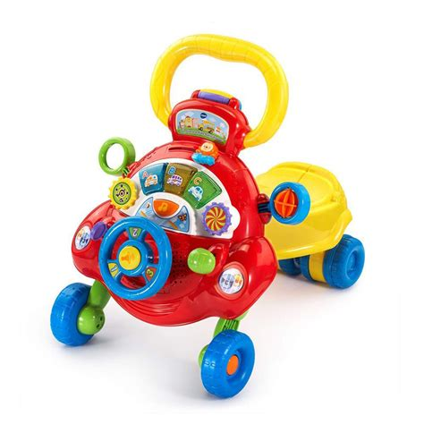 ride baby sit stand toys walking walker vtech push pull toy easy babies toddlers infant dashboard driving play happy