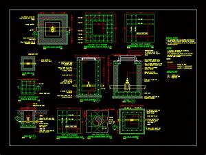 Gate Valve Chamber Concrete Dimension DWG Block for