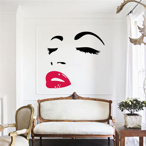marilyn home decor home decor wall sticker mural decal marilyn