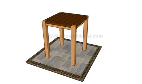 bistro table plans howtospecialist   build step