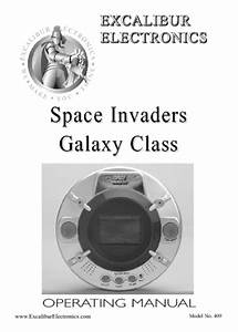 Space Invaders Galaxy Class 409 Manuals