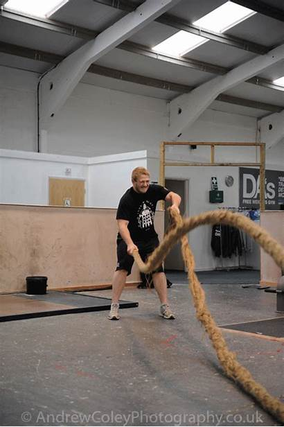 Rope Training Swings Heavy Exercise Fitness Action