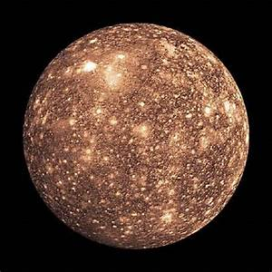Jupiter Moons - Callisto discovered by Galileo Galilei in ...