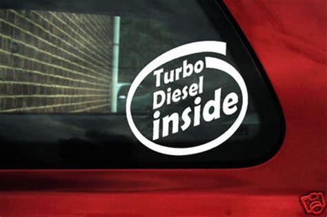 turbo diesel inside sticker decal for vw volkswagen tdi passat b4 b5 polo 6n2 9n golf mk4 bora