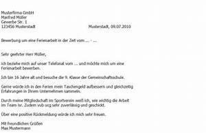 Bewerben Für Oder Um : bewerbung f r einen ferienjob muster zeugnis lebenslauf ~ Watch28wear.com Haus und Dekorationen