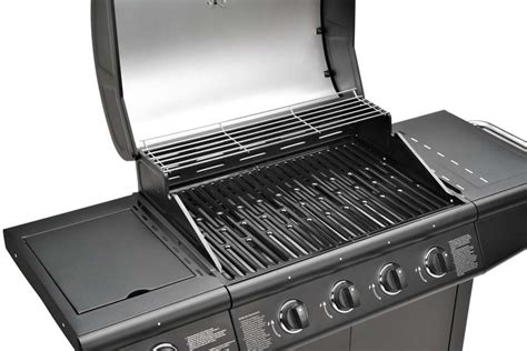 gasgrill bbq grillwagen 4 edelstahl brenner gas grill seitenkocher neu schwarz