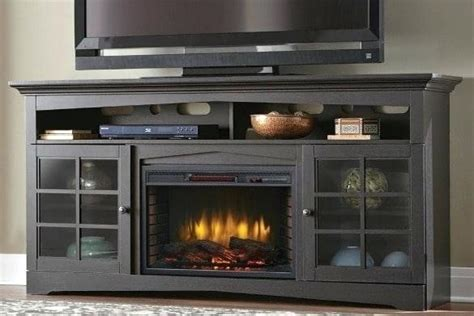 lovely black electric fireplace tv stand needanarticle