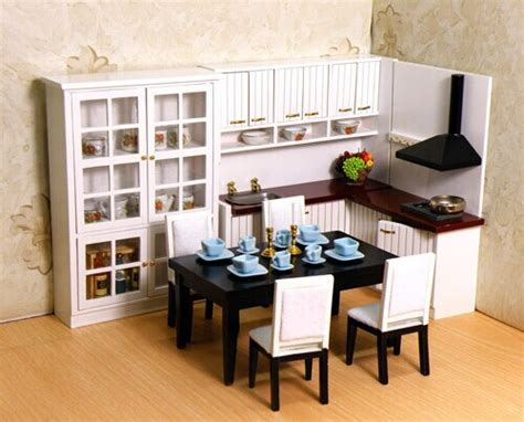 miniature kitchen set dollhouse 1 12 scale miniature furniture kitchen set