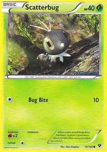 scatterbug pokemon x and y card review