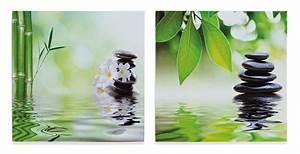 Bilder Feng Shui : 2er set wandbild leinwandbild bambus stein orchideen ~ Michelbontemps.com Haus und Dekorationen