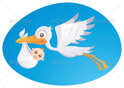 baby delivery stork graphicriver