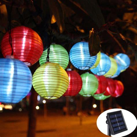 outdoor christmas globe lights lantern ball solar string lights 30 led solar l outdoor