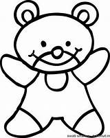 Teddy Coloring Pages Bear Swati sketch template