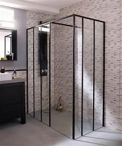 Cabine De Douche Verre Opaque : les 25 meilleures id es concernant douche noir sur ~ Edinachiropracticcenter.com Idées de Décoration