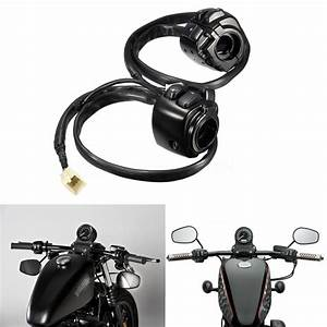 Pair Motorcycle 1 U0026quot  Handlebar Control Switches Black
