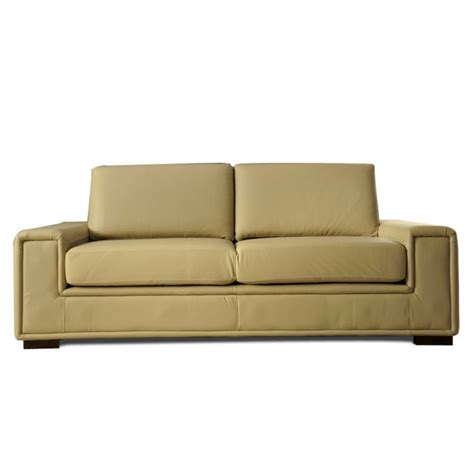 canape cuir beige 2 places mister canap 233